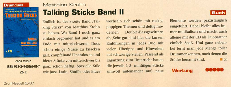 TALKING STICKS <br /> Band 2